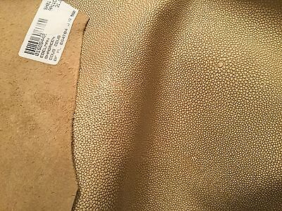 """31 sq ft EDELMAN LEATHER """"Shagreen"""" Embossed Leather Hide Cous-Cous SH-01"""