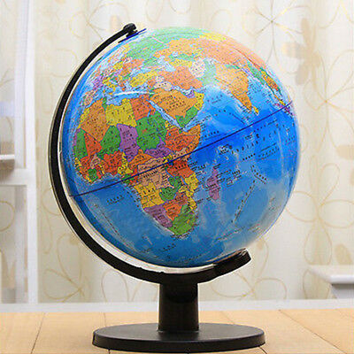 Edu Science 25cm World Countries Earth Globe & Base Geography Rotating Atlas Map