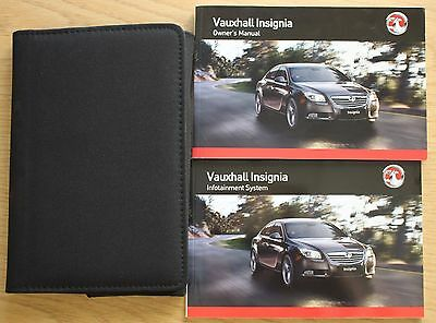Vauxhall Insignia Owners Manual Handbook Wallet Infotain 2008-2013 Pack 12170