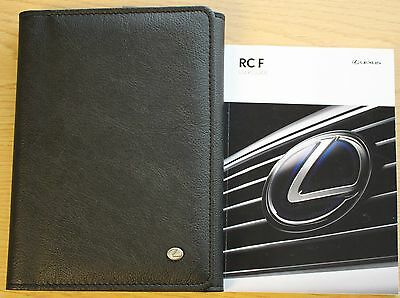Lexus Rc F Handbook User Guide Owners Manual Wallet 2014-2015 Pack 9526