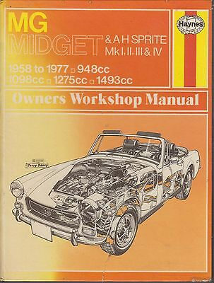 Mg Midget & Austin-Healey Sprite Incl Frogeye 1958 - 1977 Owners Workshop Manual