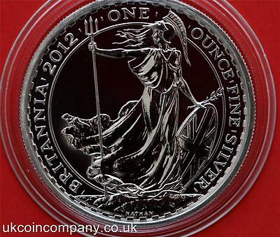 2012 Royal Mint Britannia 1oz Silver Bu Two Pounds Coin In Capsule