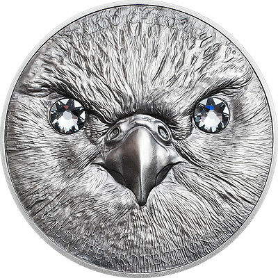 1 Oz Unze Silber Antique Finish Saker Falcon Wildlife Protect Mongolei 2016