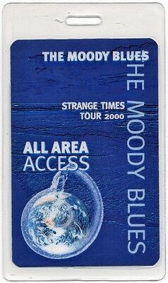 Moody Blues authentic 2000 concert tour Laminated Backstage Pass