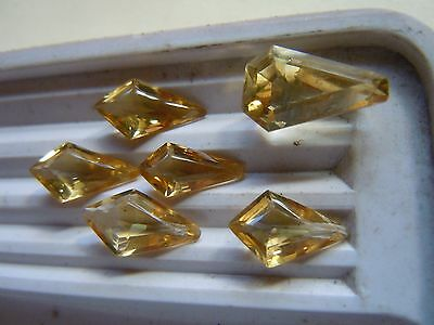 Pack of Assorted drop shape Natural Citrines