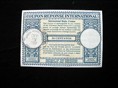 1961 Philippines IRC INTERNATIONAL REPLY COUPON