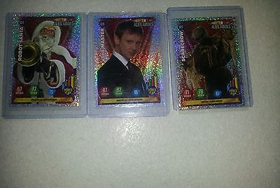 3 Dr Who Alien Armies Glitter Cards No's G24 G27 G28.