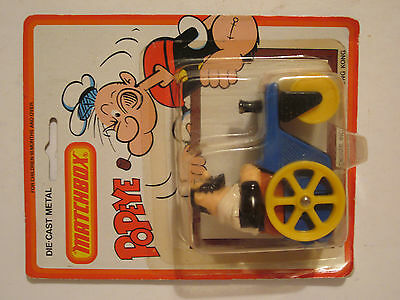 Bluto's road roller, Matchbox model. 1980, mint carded.