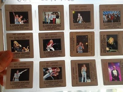 12 x Def Leppard press photo slides 1980s/1990s attractive lot
