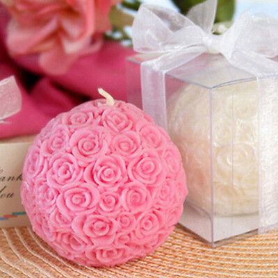 New Flexible 3D Rose Ball Shaped Decorative Silicone Soap Candle Molds Resin