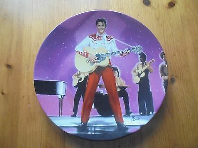 """Elvis on the big screen  From the film """"Loving You"""" collectors plate"""