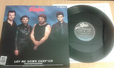 """The Stranglers Let Me Down Easy/No Mercy 12"""" vinyl single (Canadian Import)"""