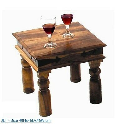 Sheesham Wood -Small Square Coffee Table/Lamp Side Table