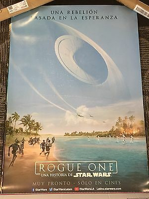 ROGUE ONE A STAR WARS STORY Original 27x40 DS Movie Poster RARE SPANISH VERSION