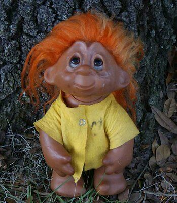 "Vintage 1982 Troll Doll 243 11"" Norfin Thomas Dam Collectible"