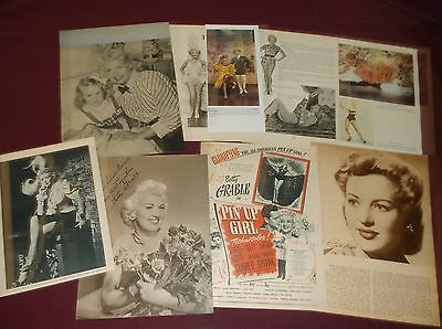 Betty Grable - Clippings  (Lot A)