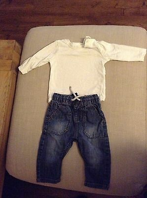 Baby Boy Outfit Jeans With Top 3-6 Months