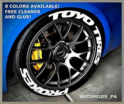 "8 Colors! Permanent Tire Letters - ""toyo Tires"" ""proxes"" - 1"" 1.25"" 1.5"" 1.75"""