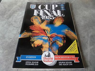 1985 Fa Cup Final Programme Everton V Manchester United