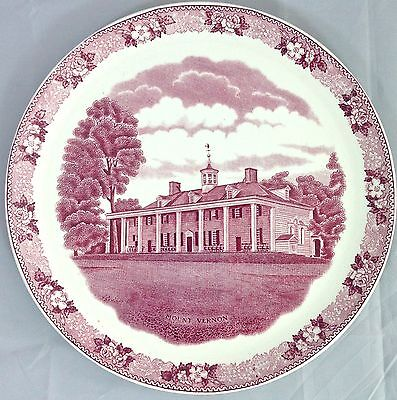 Old English Staffordshire Ware by Adams Potteries MOUNT VERNON Collector Plate