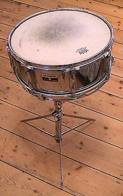 Vintage Olympic Snare Drum (minus snare) and  Snare Stand.