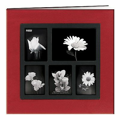 "Pioneer Photo Albums Post Bound Faux Suede Scrapbook, 12 x 12"", red"