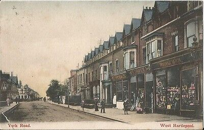York Road, West Hartlepool. Posted 1907.