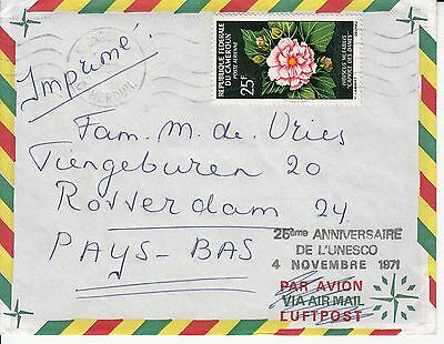 Flowers Cameroun on 1971 cover to The Netherlands