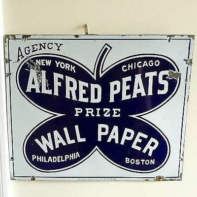 Alfred Peats Wall Paper Company porcelain sign c. 1900