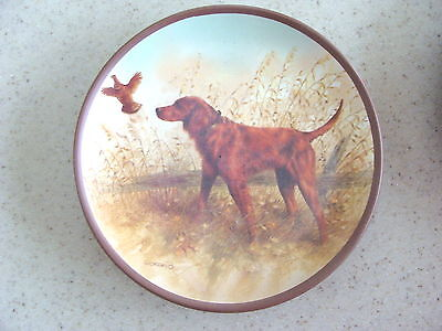 Hunting Irish Setter Mini Plate