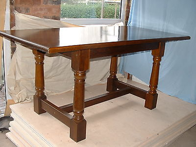Reproduction Oak Refectory Style Dining Table