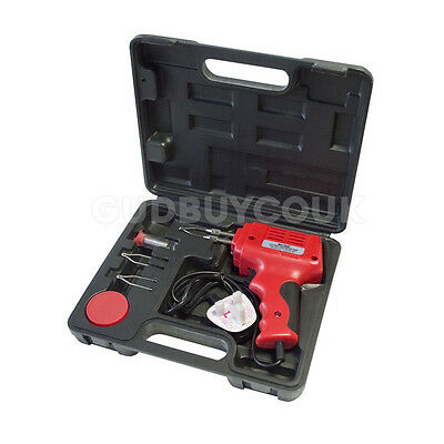 175W Electric Soldering Iron Solder Gun Kit 240V Electrical - 2 Spare Tips New