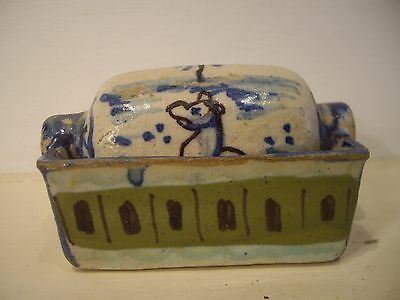 Antique Spanish Tin Glaze / Faience Water Roller And Basin .