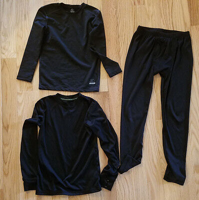 Black thermal pants and shirts Boys size 8 (M)
