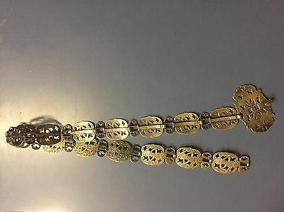 Antique Edwardian Silver EPNS Nurse Belt With Buckle Gorgeous In Good Condition