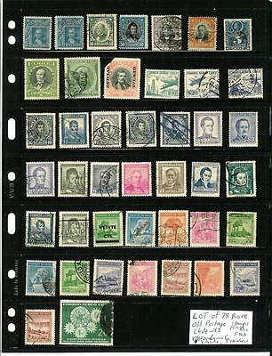 LOT OF 78 RARE OLD SOUTH AMERICA POSTAGE STAMPS, Chile, Bolivia, Venezuala