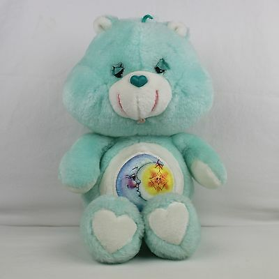 "BEDTIME BEAR vintage plush care bear 13"" 1983 original moon star cuddly toy 80s"