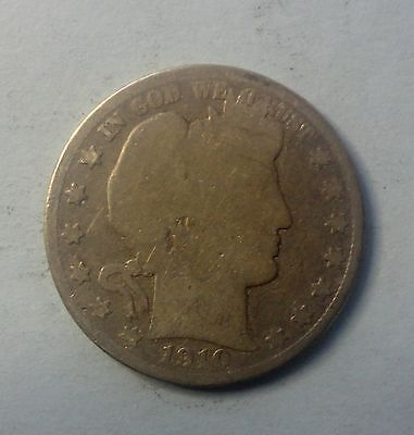 1910 S  50C Barber Half  Circulated  90 % Silver US Coin #210A