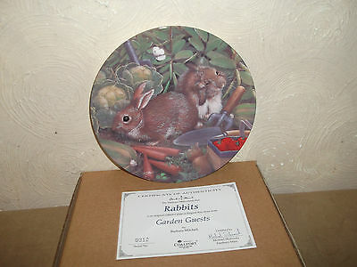 Coalport Ltd Edition Plate Rabbits Boxed With Certificate