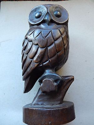 Wooden hand crafted owl