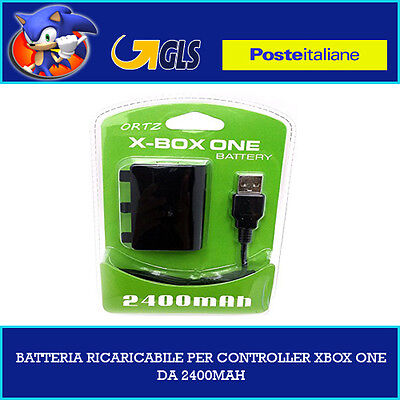 Batteria Ricaricabile + Filo Battery Pack Pad Controller Xbox One Cavo Ricarica