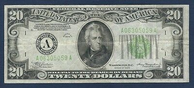 1934 $20 *Boston/Light Green Seal* Federal Reserve Note*Free S/H After 1st Item*