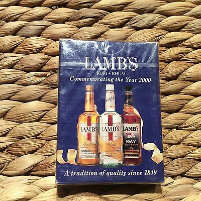 CARDS> POKER> LAMBS RUM > Millennium Y2K > Playing Cards MINT sealed > Year 2000