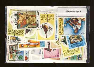 Grenadines 50 timbres différents