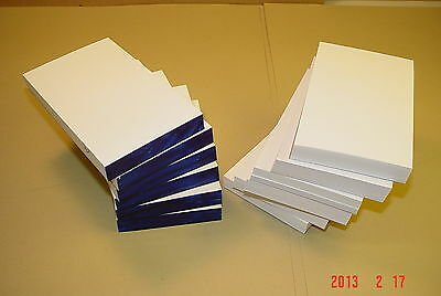 12 Scratch Pads Blank 3x5 White 100 Sheets per Pad, Made in USA