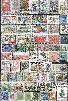 Czechoslovakia. Selection of 63 used stamps