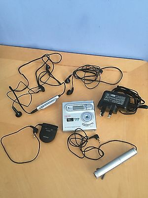 Sharp Minidisc Player Recorder Microphone Discs Boxed Working