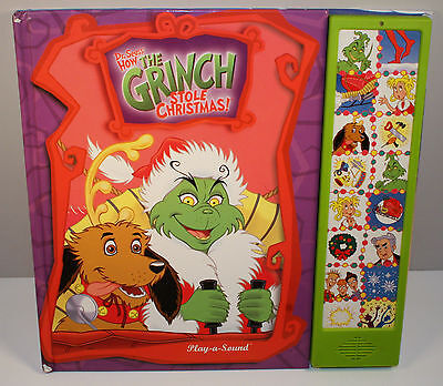 "2000 How The Grinch Stole Christmas 12"" Talking Sound Book Play-A-Sound Dr Seuss"