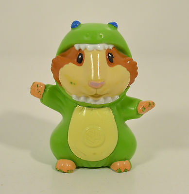 """2008 Linny Guinea Pig in Green Dino Costume 2.5"""" PVC Action Figure Wonder Pets"""