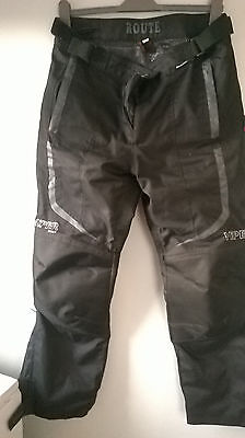 """men's motorbike over trousers textile motorcycle VIPER mens XL waist34-40"""" L30"""""""